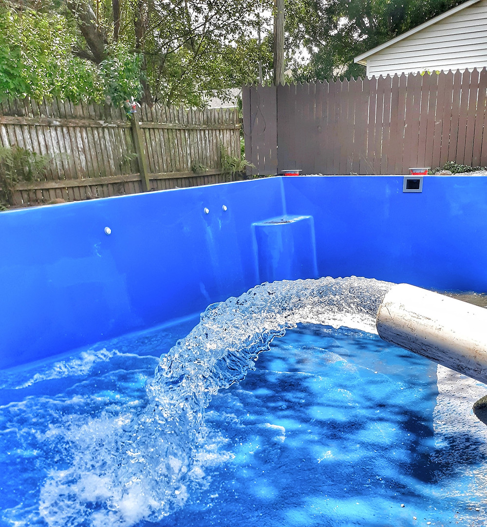 Fiberglass Pool Water Delivery