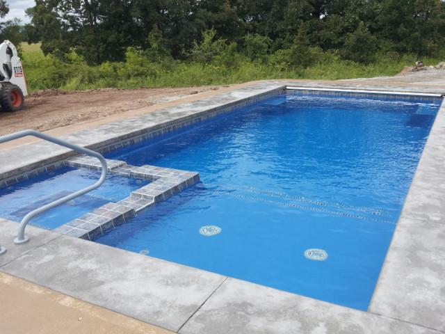 Fiberglass Pool by Pool Pros in Larsen WI