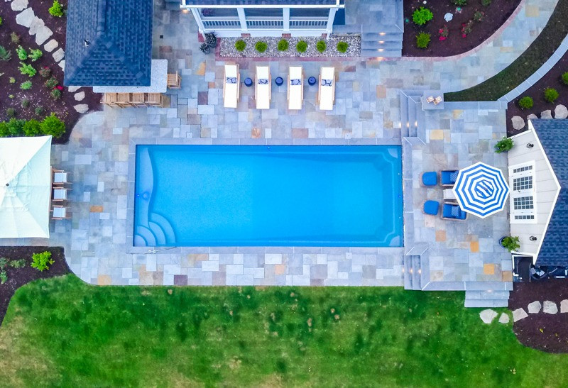 The R Series Fiberglass Pool by River Pools
