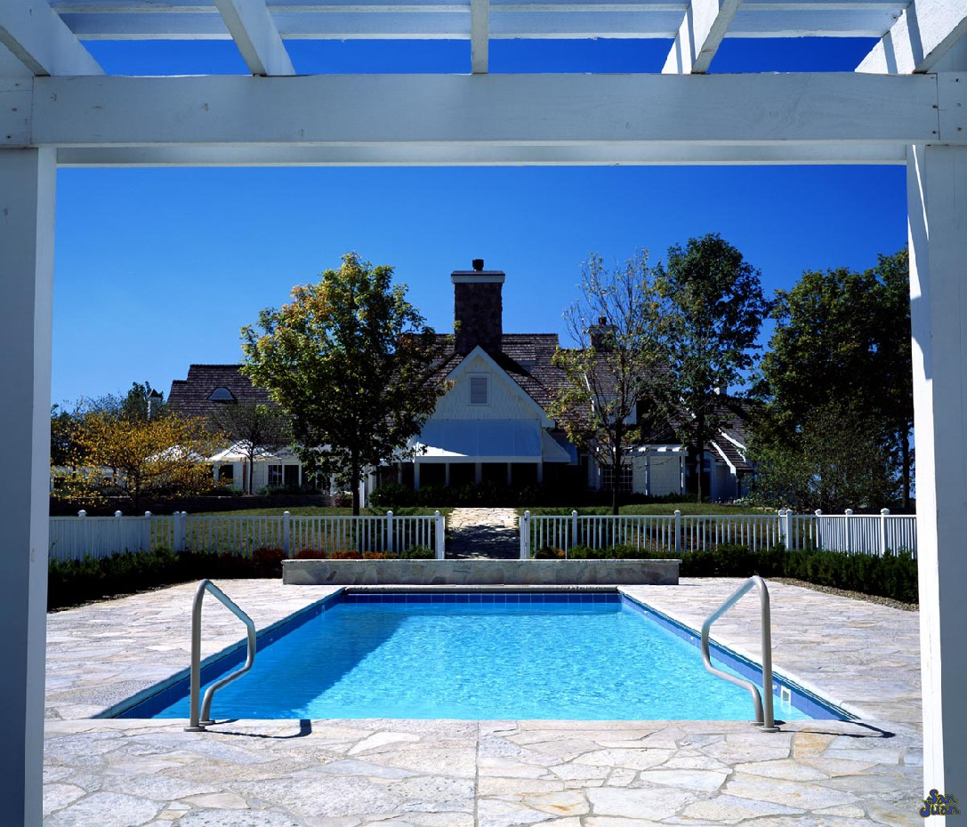 The San Juan Biloxi Fiberglass Pool in white