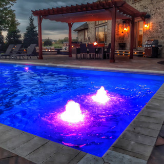 River Pools D40 Fiberglass Pool with Pen
