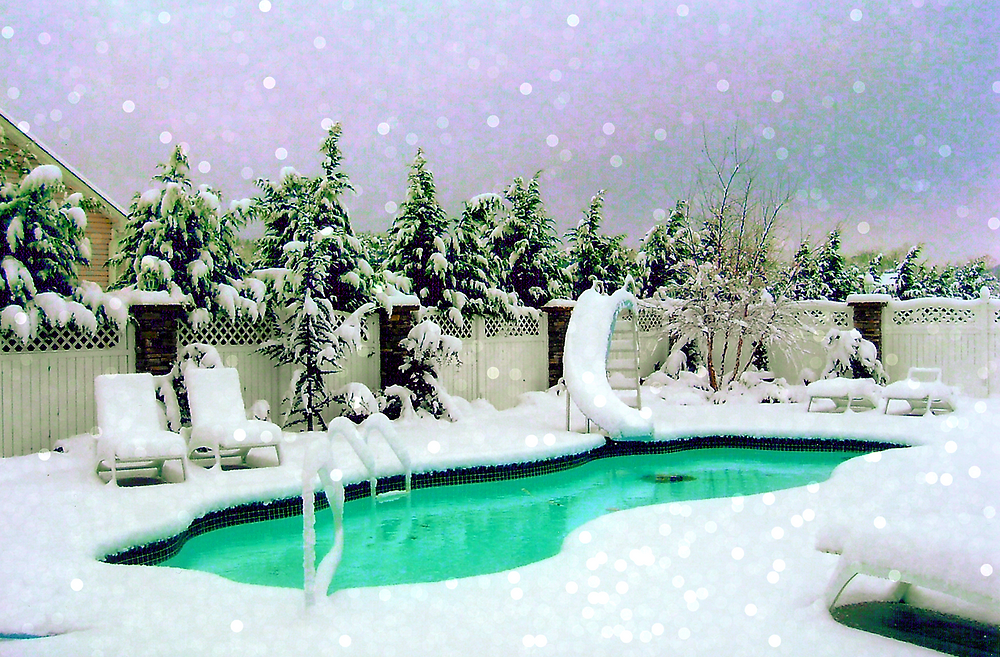 Fiberglass Pool in Winter