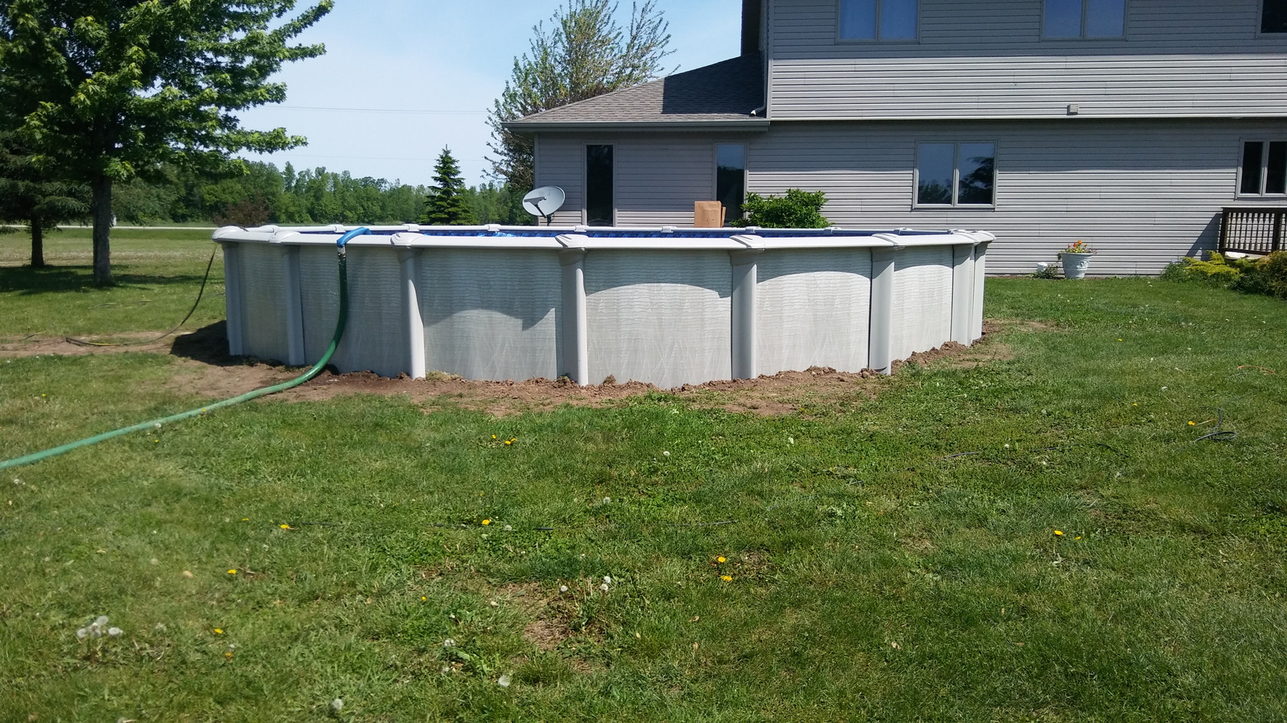 Another 27' Round Evolution Above Ground Pool from Pool Pros, built in Pulaski WI 2017.