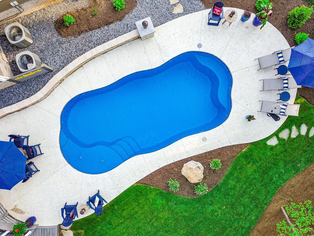 The C Series Fiberglass Pool from River Pools