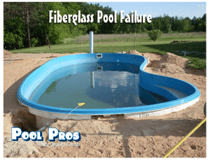 Leaking fiberglass pool in Shawano WI