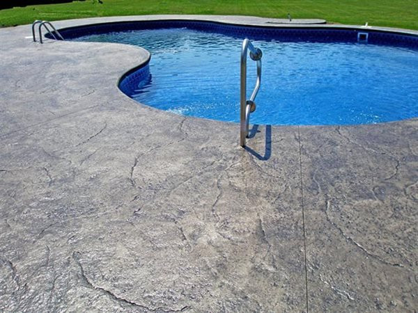 Heavy Texture Stamped Pool Deck