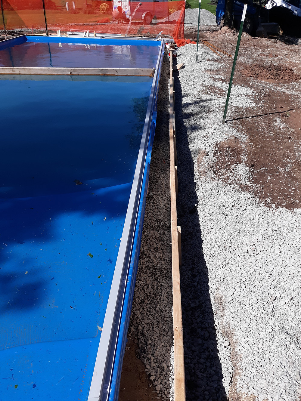 Forming of the Concrete Beam on this D Series Fiberglass Pool from River Pools in Appleton WI