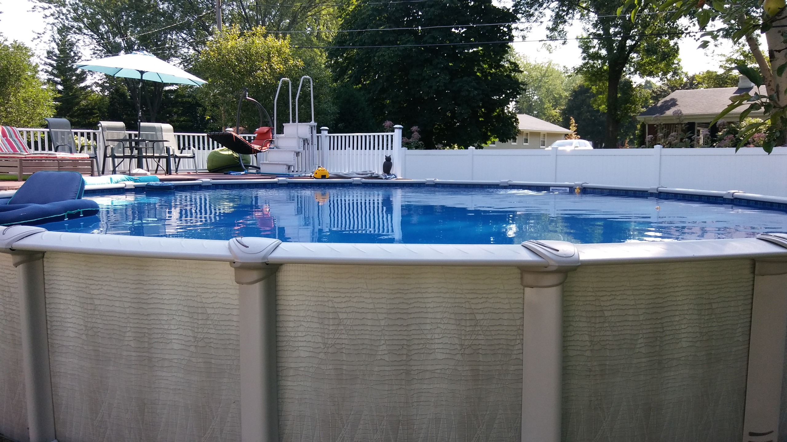 This the 30' Round Evolution Above Ground Pool from Pool Pros, built in De Pere WI.
