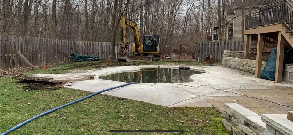 Removal of Fiberglass Pool