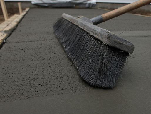 What is Broom Finished or Brushed Concrete?