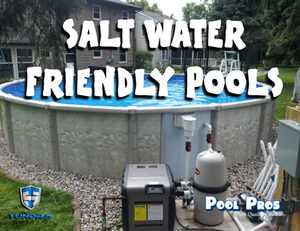Salt Water Friendly Genesis Above Ground Pool built in Appleton WI by Pool Pros