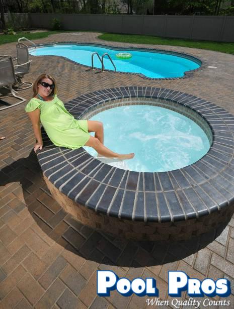 Pool Pros Fiberglass Inground Pools Spas Wisconsin Classy Beautiful Backyard Pools Model