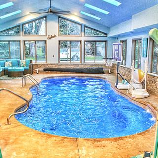 Indoor Fiberglass Pool in Grreenlake WI