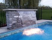 Pool Pros Built Waterfall