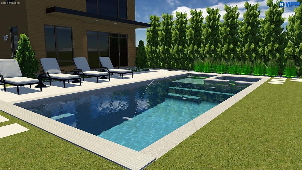 The X36 Fiberglass Pool by River Pools