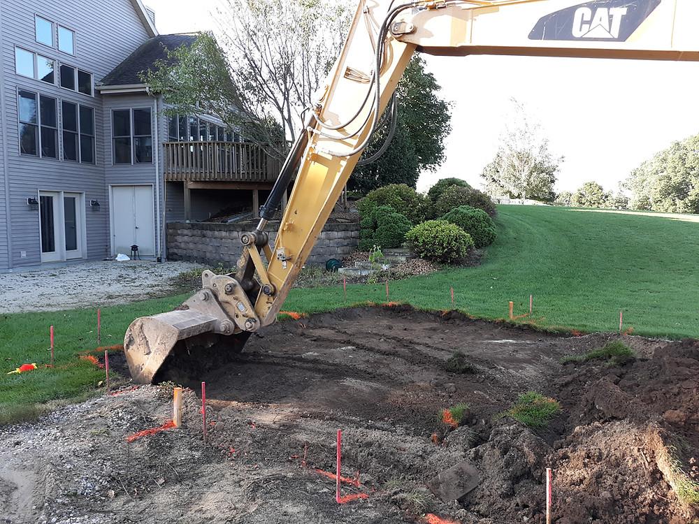 Fiberglass Pool Excavation