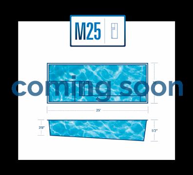 The New M25 Fiberglas Pool by River Pools