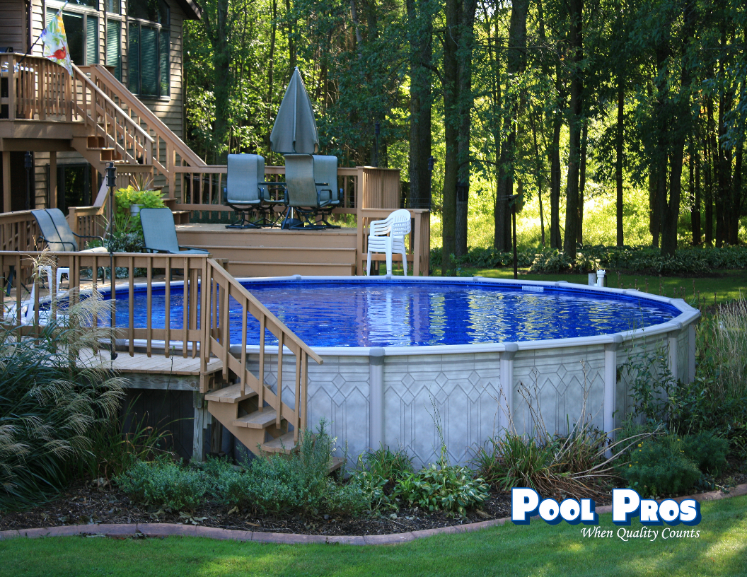 24' Round Trevi Above Ground Pool in Howard WI