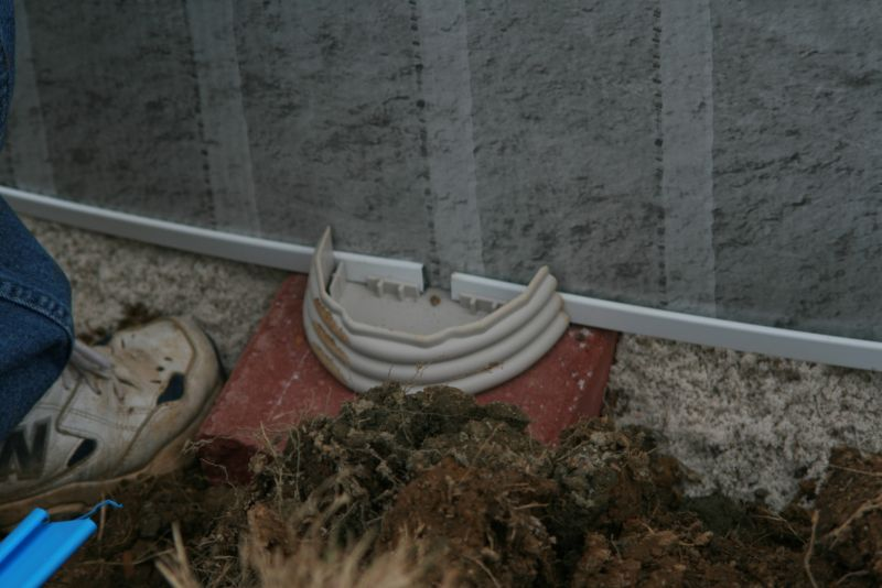 Another view of the patio block above gorund pool installation method.