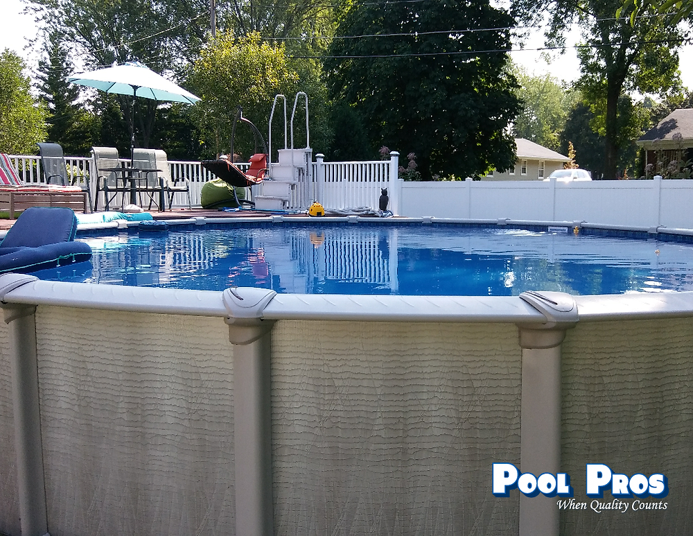 Evolution Above Ground Pool in De Pere by Pool Pros