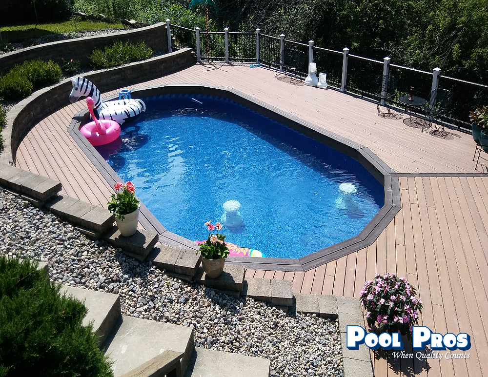 Above Ground Pool by Pool PRos in Ledgeview WI