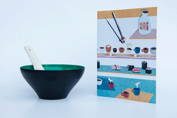 Card and bowl