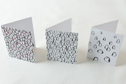 Christmas Penguins card set
