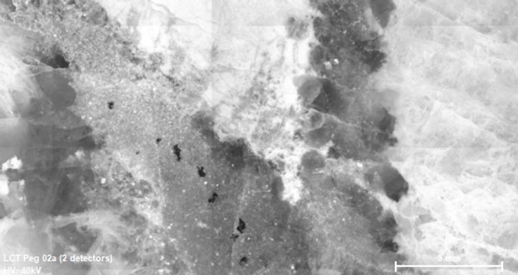 LCT pegmatite micro xrf mosaic (2 detectors)