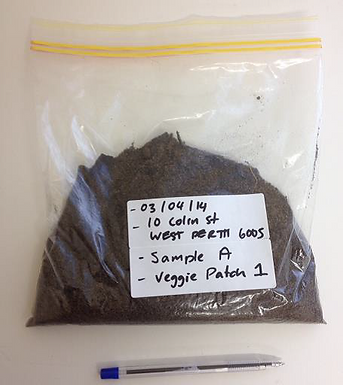 Example of how to package soil to send for analysis