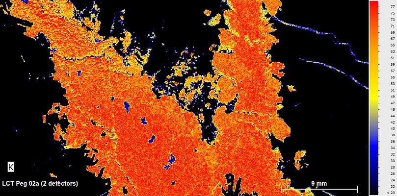 LCT Pegtite_K heat map micro xrf