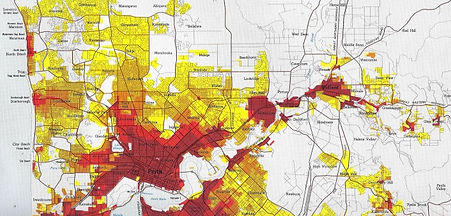 Map Survey highlighting Perth Homes with Lead Paint