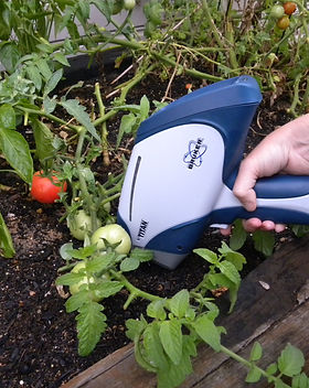 Bruket Titan XRF Soil Testing Vegetable Patch
