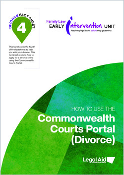 Divorce fact sheet 4