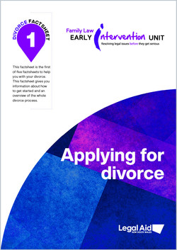 Divorce fact sheet 1