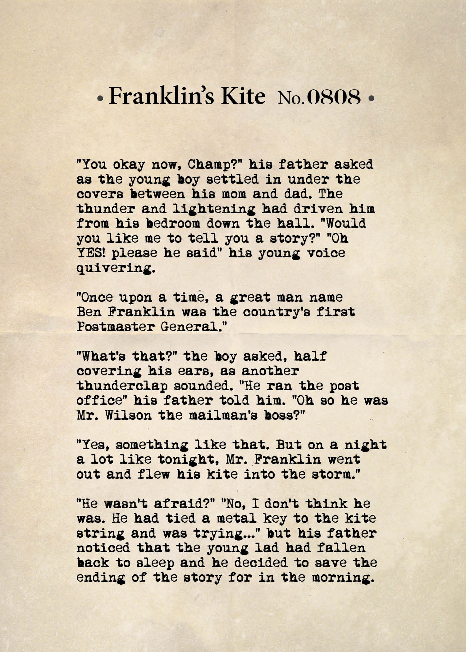 Franklin's Kite No. 0808