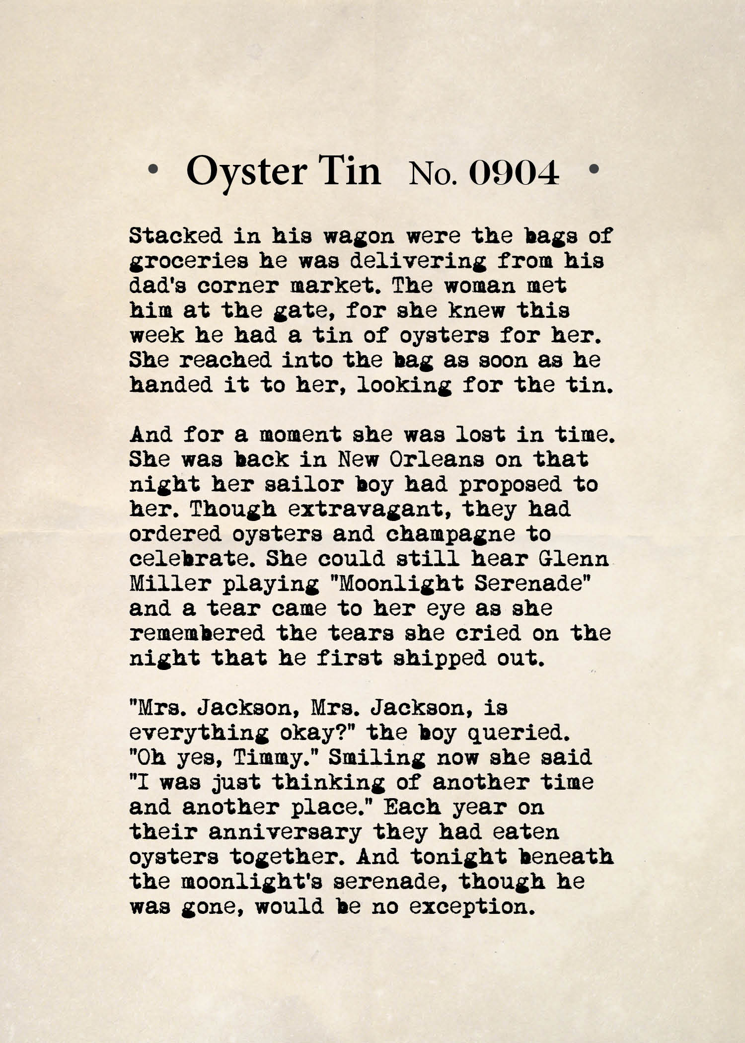 Oyster Tin No. 0904