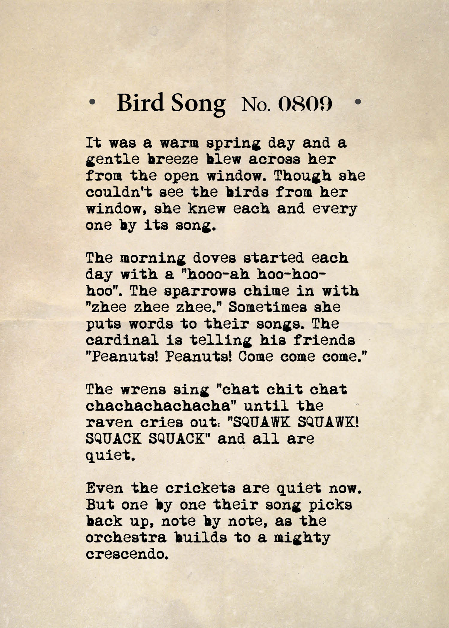 Bird Song No. 0809