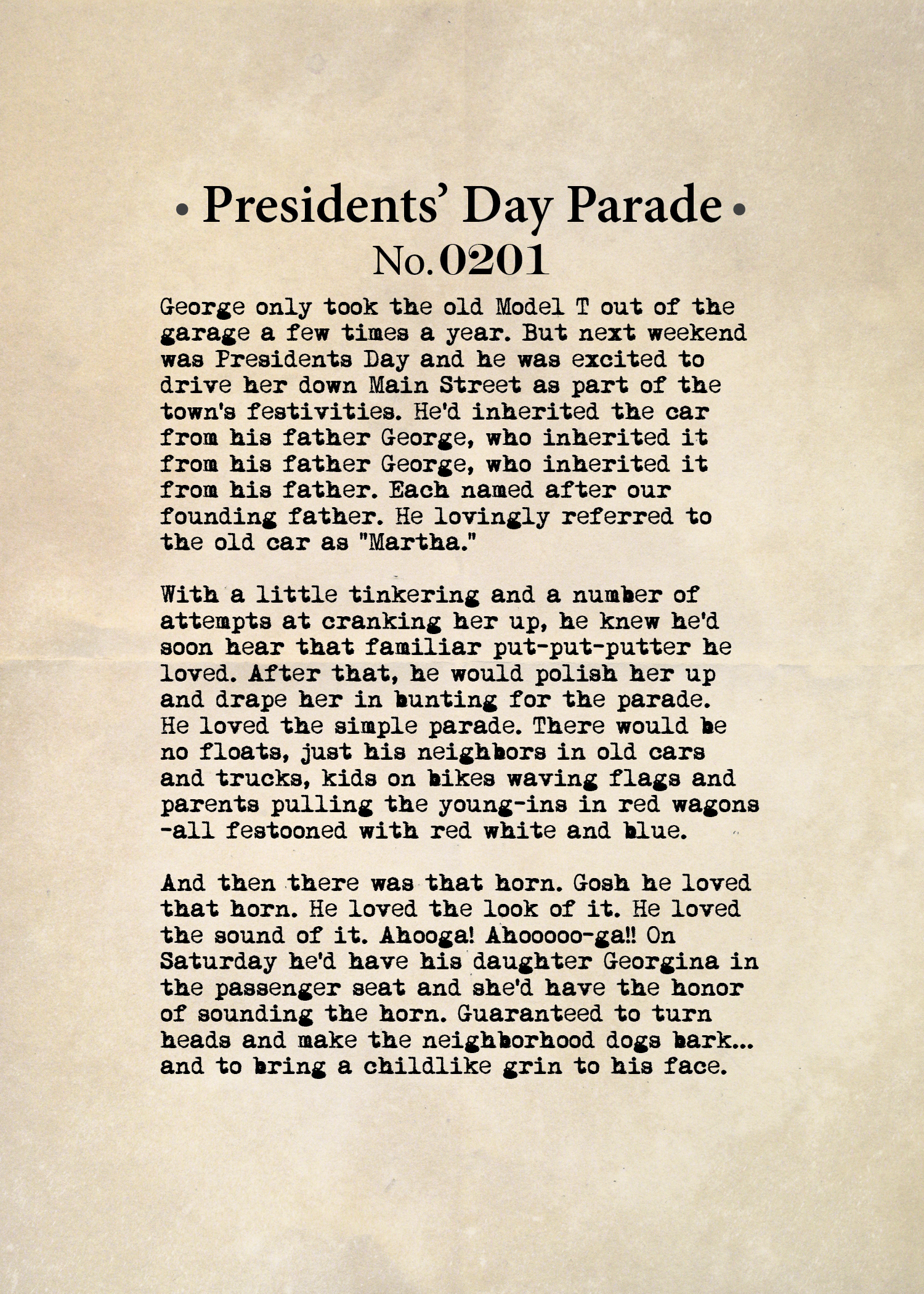 Presidents' Day Parade No. 0201