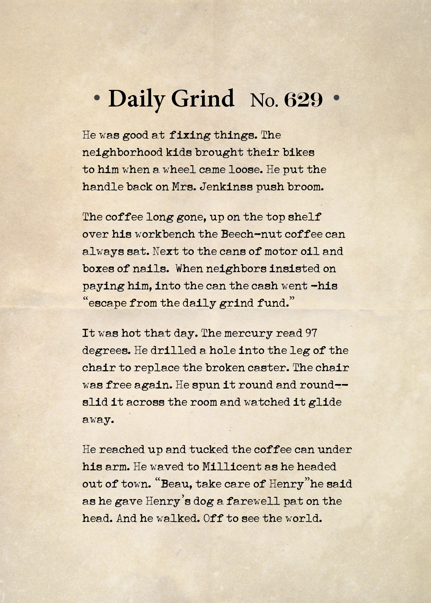 Daily Grind No. 629