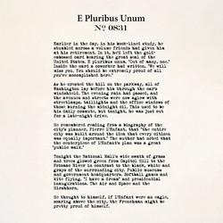 E Pluribus Unum no. 0831