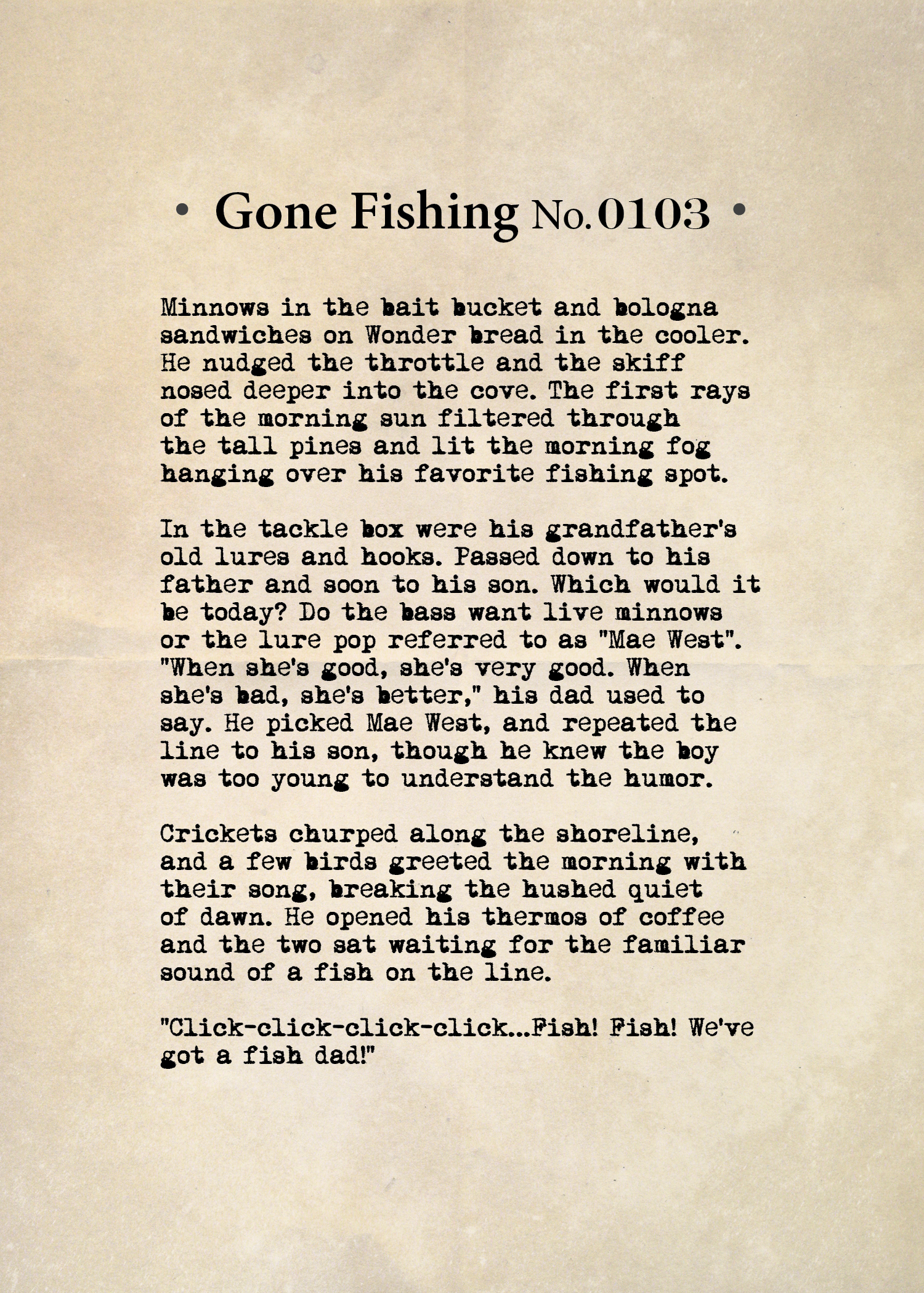 Gone Fishing No. 0103