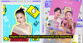 Angela Zhang's first Douyin commercial Live-Streaming