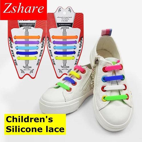 No Tie Elastic Shoe Laces Children's Rubber Shoelace