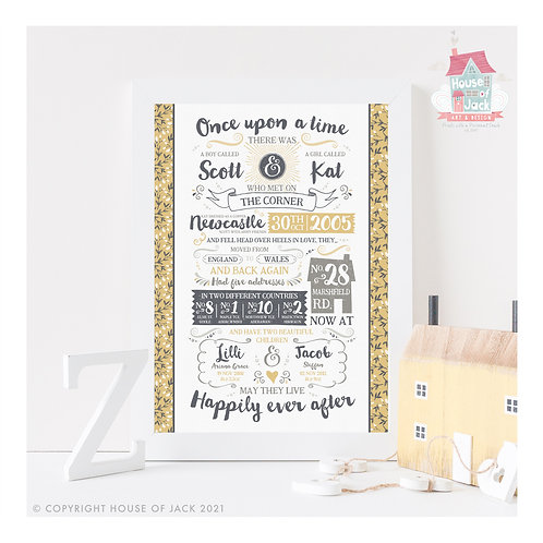 The Story of Us Personalised Art Print