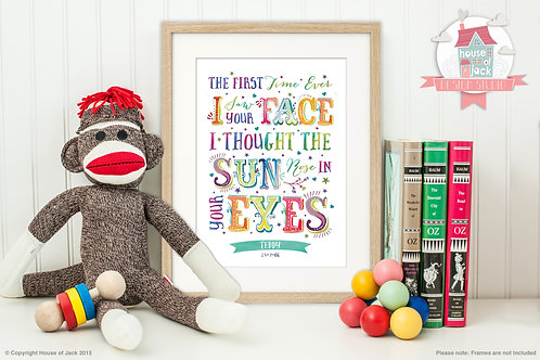 """""""First Time"""" Personalised Art Print"""