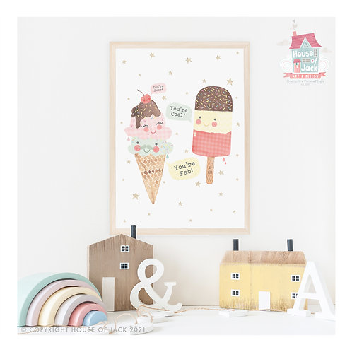 Ice Cream Fab Art Print
