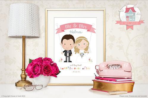 Jelly Tot Wedding Personalised Art Print