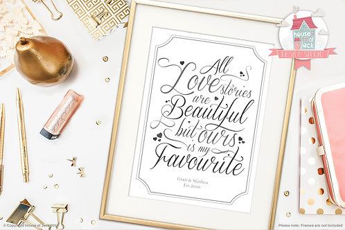 Love Story Personalised Art Print