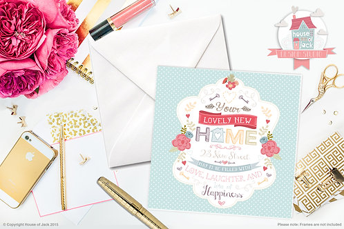 New Home Personalised Greetings Card