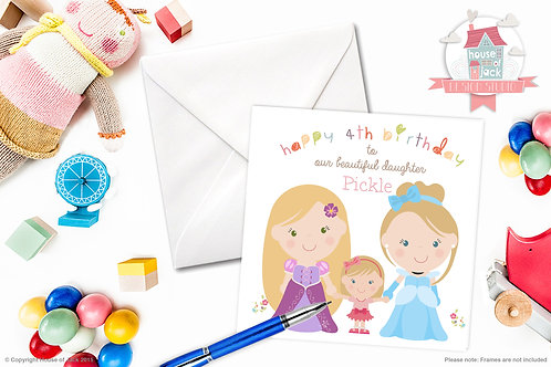 Jelly Tot Princess Personalised Greetings Card